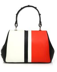 Prada Dark Brown Suede Cavallino Top Frame Bag in Black (brown)   Lyst