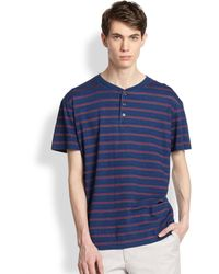 Marc By Marc Jacobs Harley Striped Henley Tee - Lyst