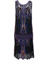 Antik Batik Arleen-Dress blue - Lyst