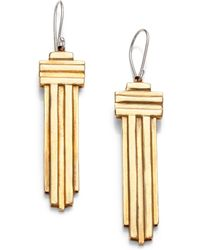 Aesa - Water Horizon Drop Earrings - Lyst