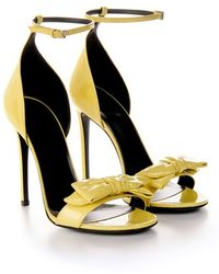 Gucci 'Clodine' Patent Leather Sandals - Lyst