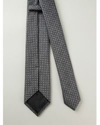 Z Zegna Gray Embroidered Tie - Lyst