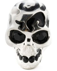 Alexander McQueen Skull Cocktail Ring - Lyst
