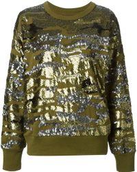 Isabel Marant Sequin Embellished Sweater - Lyst