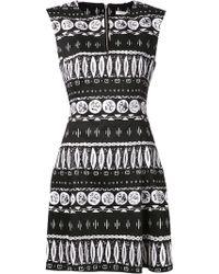 Veronica Beard Woodblock Print Dress - Lyst