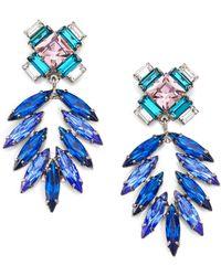 DANNIJO Simon Crystal Chandelier Earrings - Lyst
