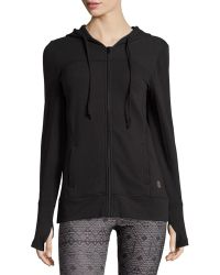 Balance Collection - Hooded Front Zip Jersey Jacket - Lyst