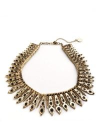 House Of Harlow Gypsy Feather Collar Necklace - Lyst