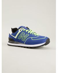 New Balance Blue 574 Sneakers - Lyst