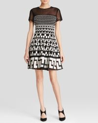 DKNY Embroidered Illusion Dress - Lyst