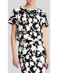 Kate Spade Graphic Floral Crop Top - Lyst