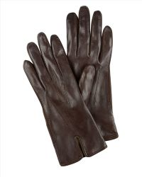 Jaeger - Leather Suede Insert Gloves - Lyst