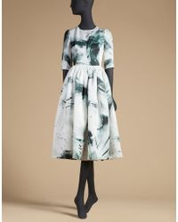 Dolce & Gabbana | Dress In Printed Organza | Lyst