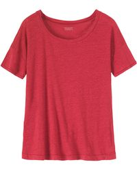 Toast Linen Scoop Neck Tee - Lyst