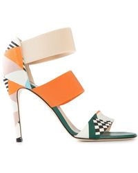 MSGM Graphic Print Sandals - Lyst