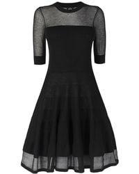 McQ by Alexander McQueen Solid & Sheer Flirty Dress - Lyst