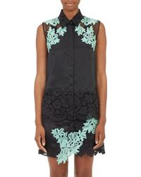 3.1 Phillip Lim Lace-embellished Satin Blouse - Lyst