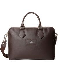 Vivienne Westwood Saffiano Document Bag - Lyst