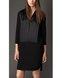 Burberry Silk Cady Shirt Dress - Lyst