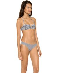 Thayer Deep V Bandeau Bikini Top - Lyst