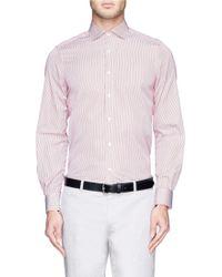 Boglioli Pencil Stripe Cotton Poplin Shirt - Lyst