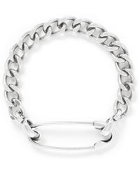 Giles & Brother Safety Pin Chunky Chain Bracelet - Lyst