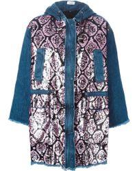 Au Jour Le Jour - Sequin Embellished Denim Coat - Lyst
