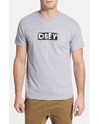 Obey 'Spirit' Graphic T-Shirt - Lyst