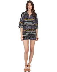 Kut From The Kloth - Julie Surplus Romper With 3/4 Sleeve - Lyst
