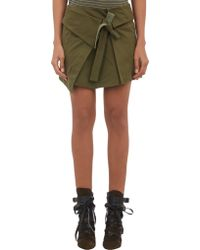 Isabel Marant Jaci Foldover Waist Skirt - Lyst