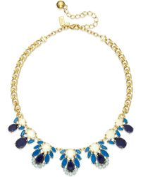 Kate Spade New York Gold-tone Blue Stone Graduated Collar Necklace - Lyst
