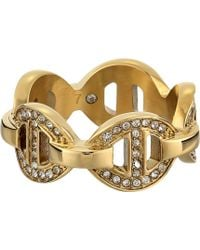 Michael Kors Maritime Pave Link Ring - Lyst