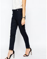 Oasis | Cotton Straight Leg Trousers | Lyst