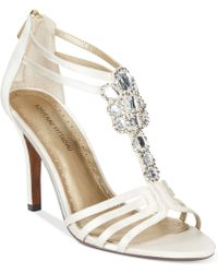 Adrienne Vittadini Georgia Evening Sandals - Lyst