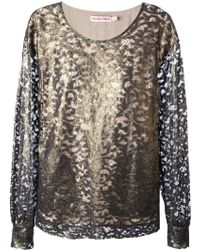 See By Chloé Lace Long Sleeved Top - Lyst