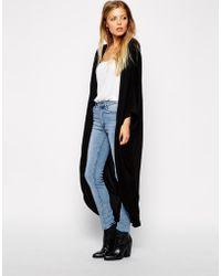 Asos Jersey Maxi Kimono - Lyst