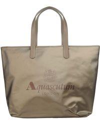 Aquascutum - Large Fabric Bag - Lyst