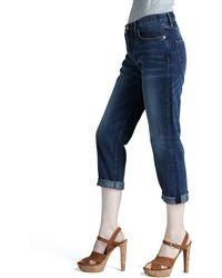 Current/Elliott The Boyfriend Cropped Jeans - Lyst