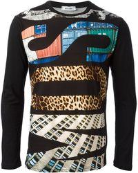 Moschino Logo Print Sweater - Lyst