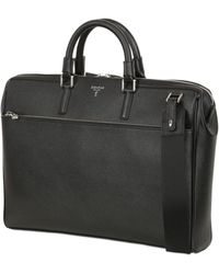 Serapian - Evolution Saffiano Leather Computer Bag - Lyst