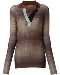 Missoni Collared Sweater - Lyst