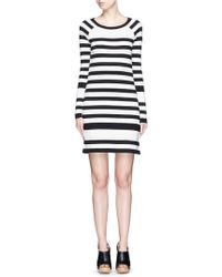 Diane von Furstenberg | Poster Stripe Silk Blend Knit Dress | Lyst