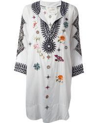 Odd Molly Myway Kaftan Dress white - Lyst