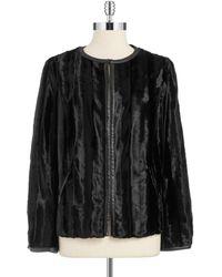 Jones New York Faux Fur Jacket - Lyst