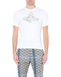 Vivienne Westwood Safety-Pin Orb-Logo Cotton-Jersey T-Shirt - For Men - Lyst