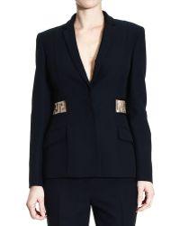Versace 1 Button Jacket With Greca Rhinestone - Lyst