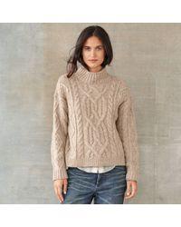 RRL - Tessa Cable-knit Wool Jumper - Lyst