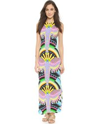 Mara Hoffman Maxi Tank Dress - Rainbow Bird Black - Lyst