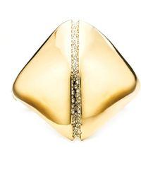 Alexis Bittar Liquid Gold Sculptural Hinged Cuff gold - Lyst
