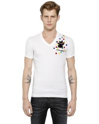 DSquared2 Monster Patch On Cotton T-shirt - Lyst